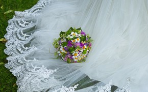 Picture bouquet, dress, weed
