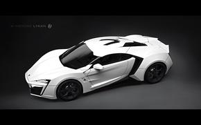 Picture white, supercar, render, Lykan Hypersport, Lykan, Hypersport, HD, V Motors Lykan HyperSpord, Arab supercar, V …