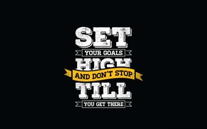 Wallpaper goal, motivation, quote