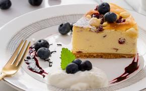 Picture cake, dessert, blueberries