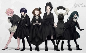 Picture background, girls, anime, Boku No Hero Academy