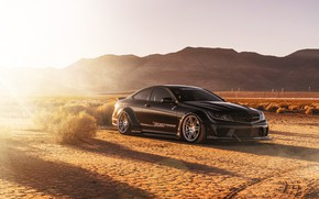 Picture design, style, background, desert, Mercedes, car, rays of light