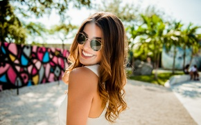 Picture face, smile, model, hair, glasses, beauty, Monica
