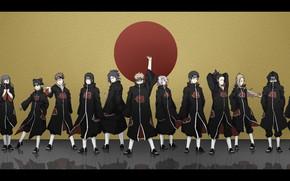 Picture Naruto, anime, ninja, evil, Akatsuki, shinobi, japanese, Naruto Shippuden, doujutsu, hitaiate, kunoichi, seifuku, kekkei genkai