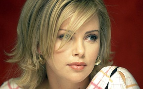Wallpaper look, face, Charlize Theron, model, actress, blonde, Charlize Theron