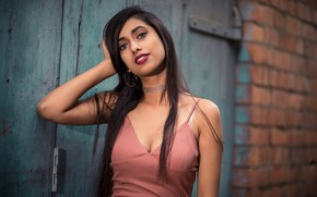 Wallpaper girl, hot, sexy, eyes, smile, beautiful, figure, model, pretty, beauty, lips, face, hair, brunette, pose, ...