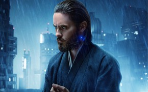 Wallpaper Blade Runner 2049, Blade runner, rain, the city, lights, Jared Leto, male, fiction