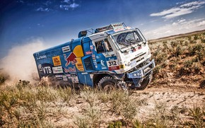 Wallpaper Nature, Grass, Dust, Sport, Speed, Stones, Truck, Race, Master, Dirt, Hills, Squirt, Beauty, Russia, Kamaz, ...