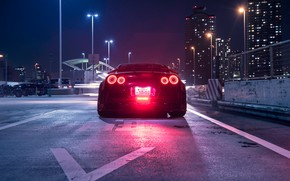 Wallpaper Sport, Ligth, R35, Rear, Nissan, Car, GT-R