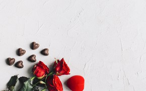 Picture roses, bouquet, Holiday, heart, Valentine's day
