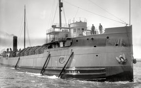 Picture retro, ship, steamer, USA