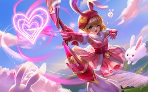 Picture summer, mood, glade, bow, art, hearts, arrow, hunting, Bunny, children's, xiong jiajie, work in 2015