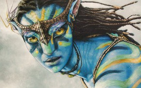 Wallpaper James Cameron, action, figure, Avatar
