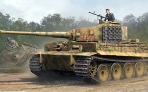Wallpaper Panzerkampfwagen VI, German heavy tank, Tiger, during the Second world war