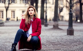Picture face, Park, background, hair, beauty, coat, Sirena