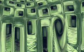 Picture abstraction, green, square cookie cutters