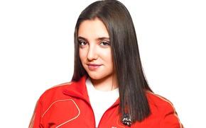 Picture Aliya Mustafina, gymnastics, three-time world champion, Mustafina Aliya Fargasova, five-time Olympic medalist, five-time European champion