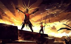Wallpaper weapons, warrior, The Aztec Gold