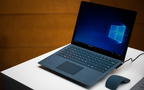 Wallpaper Microsoft Surface Laptop, Microsoft, Windows, mouse, laptop