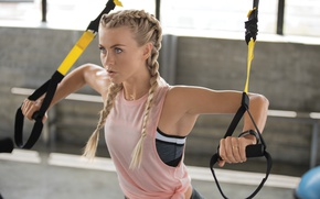 Picture blonde, workout, fitness, gym, Julianne Hough