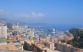 Picture sea, home, panorama, harbour, Monaco, Monte Carlo