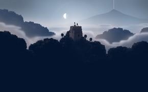 Picture The game, Mountain, View, Landscape, Pixels, Sword, Lena, Sword & Sworcery, Artpixel, Superbrothers: Sword & …