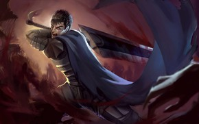 Picture sword, anime, guy, Berserker