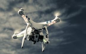 Picture sky, technology, drone, high technology, quadcopter, high tec, dji phantom
