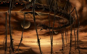 Wallpaper being, Ant, monster, planet