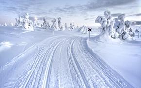 Picture Winter, Snow, Road, Finland, Lapland