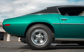Picture style, wheel, side view, Muscle car