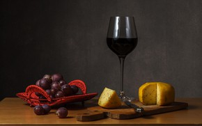 Picture wine, glass, cheese, grapes