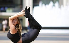 Wallpaper pose, gymnastics, Alexa, legs, girl