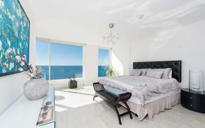 Picture design, bed, window, bedroom