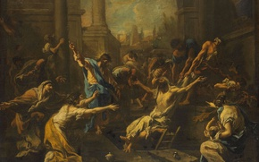 Picture oil, picture, canvas, mythology, Alessandro Magnasco, The Resurrection Of Lazarus