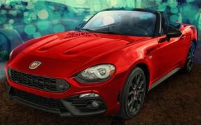 Picture red, design, Spider Abarth, FIAT 124