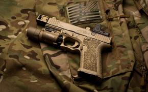 Picture gun, background, flashlight