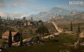 Picture road, mountains, home, Battlefield 1, Empire's Edge
