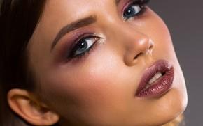 Picture look, girl, face, makeup, Irina Gromovataya
