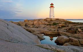 Wallpaper stones, Peggys Cove, Canada, lighthouse