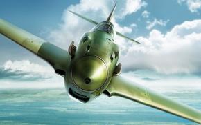 Picture Art, The great Patriotic war, LaGG-3, fighter-monoplane, piston