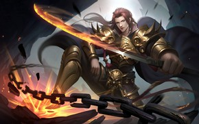 Picture weapons, warrior, art, guy, CG - D, DOUKA-金