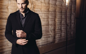 Wallpaper lamp, actor, male, jacket, photoshoot, Chris Pratt, Jurassic world, Chris Pratt