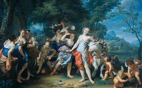 Picture tree, oil, picture, The Rape Of Europa, mythology, Nicholas Verkolje