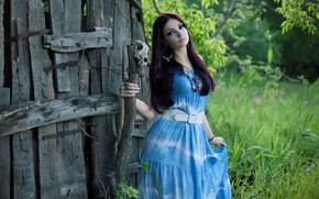 Picture girl, nature, the witch, witch, The Felisa Belial, the wise woman, model Felisa