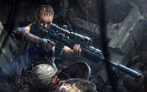 Picture sniper, bogdan marica, futuristic sniper, Concept weapon