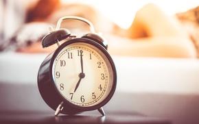 Wallpaper watch, time, arrows, alarm clock