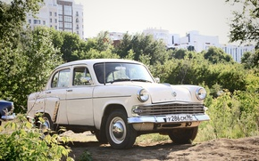 Picture nature, retro, USSR, car, Muscovite, 403, mzma
