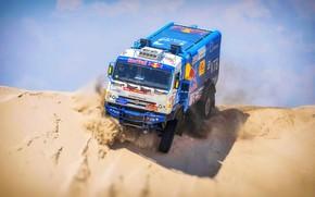Wallpaper Sand, Truck, Race, Master, Russia, Kamaz, Rally, Dakar, KAMAZ-master, Dakar, Rally, KAMAZ, 507, The roads, ...