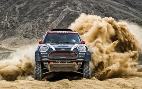 Picture Sand, Mini, Sport, Desert, Speed, Race, Lights, Rally, Dakar, Dakar, SUV, Rally, The front, Dune, …